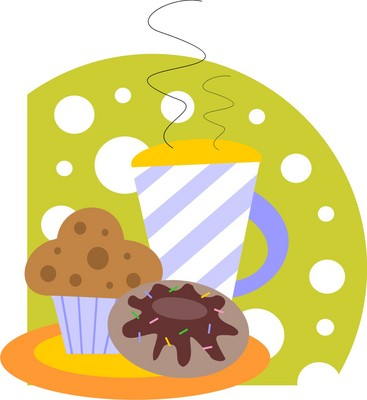 hot beverage and muffin How Many Calories In A Cup Of Coffee With Cream