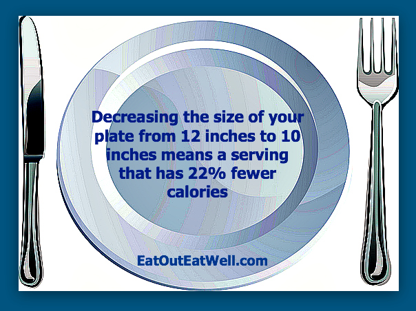 12-inch-to-10-inch-dinner plate  sc 1 st  Eat Out Eat Well & Want To Decrease Your Dinner Calories? Change The Size Of Your Plate ...
