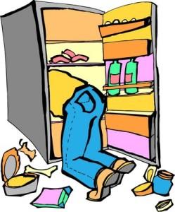 man in fridge