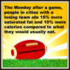 football fans eat more
