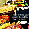 buffet food, calories