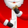 Santa eating cookies