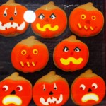 jack-o'-lantern cookies photo