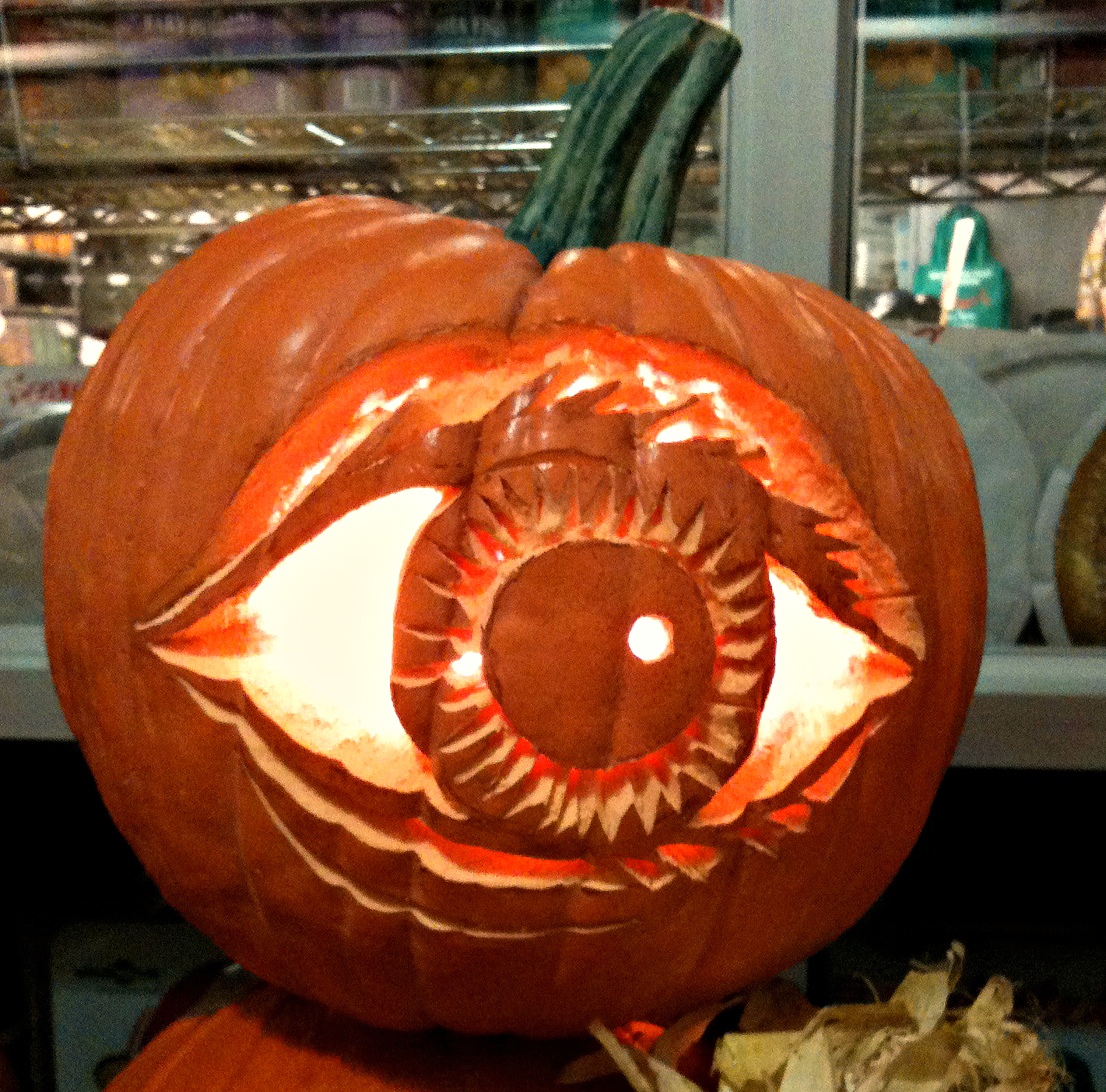 Pumpkin With Carved Eye